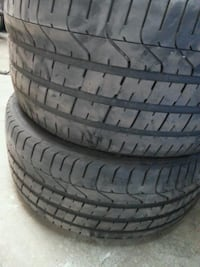 four black rubber car tires Laval, H7L 4A1