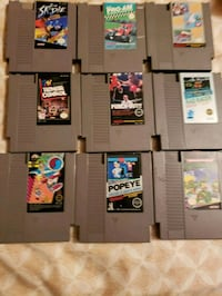 assorted Nintendo game cartridges collection Gainesville, 32641