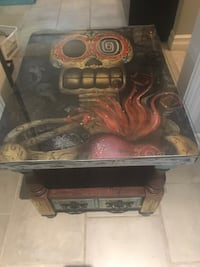 Funky Vintage Side Table: Sugar Skull London