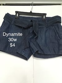 two black and blue denim shorts Barrie, L4N