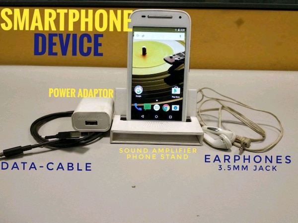Moto E2 with earphones,charger,datacable & am