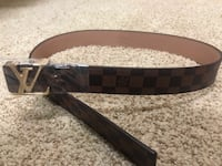 Gold and Brown Louis Vuitton Belt 3731 km