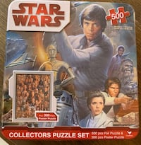 Vintage still sealed Star Wars Collectors 2 puzzle tin set Mc Lean, 22101