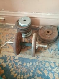 gray dumbbells with plates Schenectady, 12308