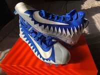 Nike Alpha Menace Pro Mid TD Mens Football Cleats - White / Blue - Size 10 Los Angeles, 90005