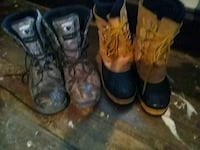 two pairs of brown and black leather boots Mohawk, 13407
