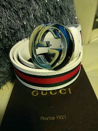 white and blue Gucci leather belt Medford, 02155