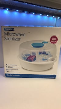 Microwave sterilizer for baby bottles pacifiers and toys