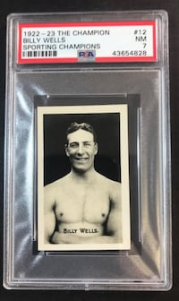 1922 The Champion Sporting Champions #12 Billy Wells  PSA 7 NR-MT