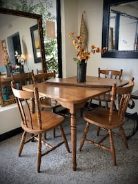 Dining room set solid wood
