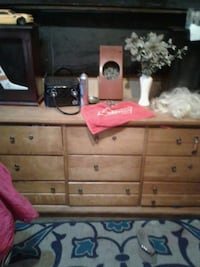 brown wooden dresser with mirror Calgary, T2E 1P9