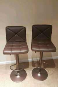 two black leather padded bar stools Fairfax, 22033
