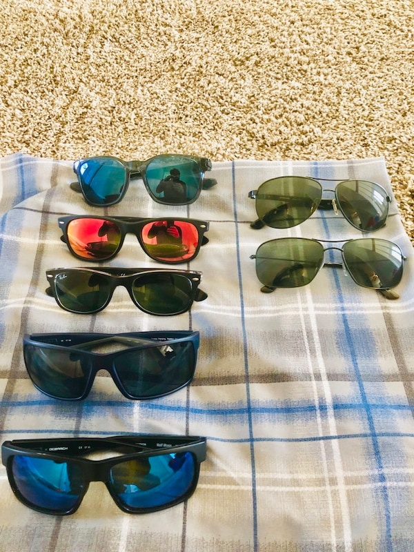 7dc2ceda41 Used six assorted color sunglasses with black lens for sale in Dacula -  letgo