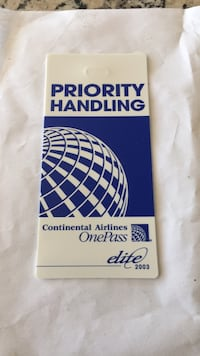 Continental Airlines baggage tag Los Angeles, 90049
