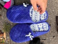 toddler's blue and white plaid dress shoes TORONTO