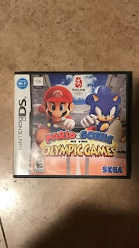Nintendo DS mario and sonic olympic games case