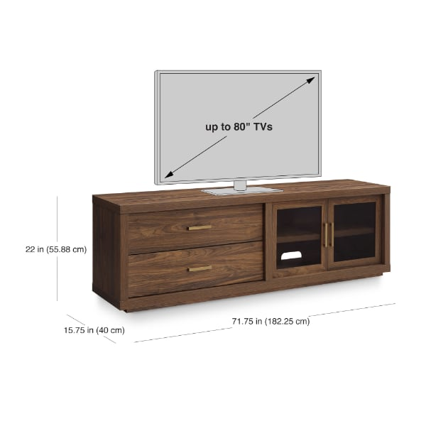 """TV STAND UP TO 80""""  ASSEMBLED"""