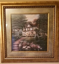 House Painting on Gold Frame