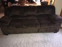 Ashley couch and love seat. Chocolate color New London, 54961