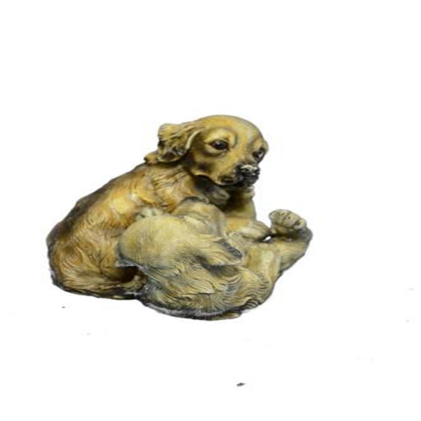 Two Puppy Labrador Playing Bronze Sculpture (4X5 Inches) 1d0507a4-bd79-4739-ba54-ab8feb94eb13