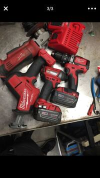 red and black Milwaukee cordless power drill Alsip, 60803