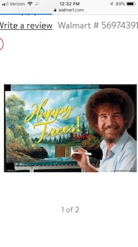 Bob Ross happy times poster still wrapped Baltimore, 21222