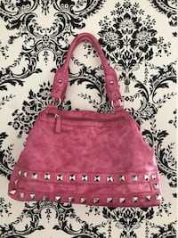 Pink leather handbag  Saint-Eustache, J7P
