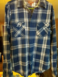blue and white plaid button-up shirt Brooklyn, 49230