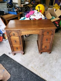 Antique solid oak desk.
