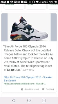 Air force Olympic edition worn once