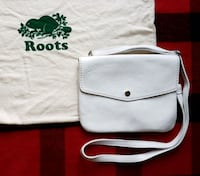 Roots White Prince Leather Flat Bag Toronto, M6H 3W4