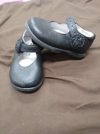 toddler's black leather mary jane flats