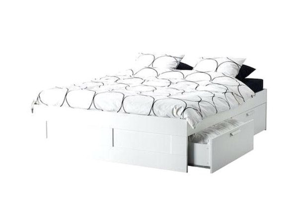 Queen Size Ikea Bed Frame With Storage And Mattress