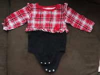 toddler's red and white plaid dress shirt 43 km