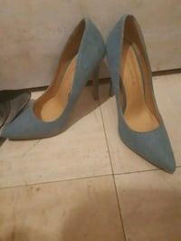 pair of gray suede pointed-toe pumps Ottawa, K1N 0A5