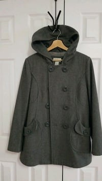 Double breasted wool coat. Size 10 Markham, L3S 3N7