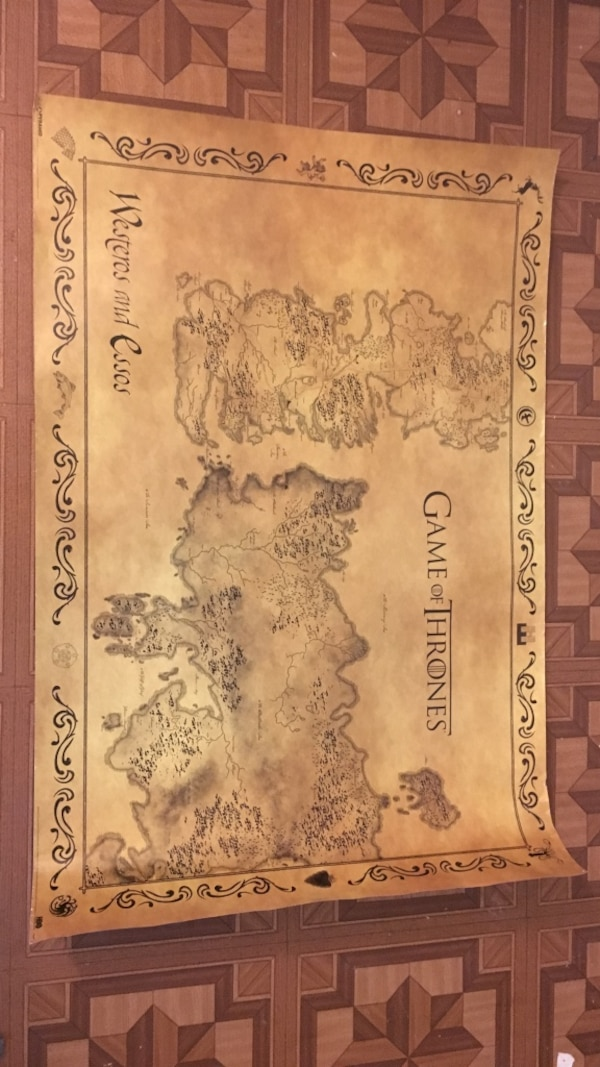 Used game of thrones westeros and essos map for sale in ... Game Of Thrones Full Map Poster on walking dead map poster, hobbit unexpected journey map poster, gravity falls map poster, game.of thrones s3 poster, supernatural map poster, life map poster, united states map poster, red dead redemption map poster, world of warcraft map poster, community map poster, silicon valley map poster, fallout new vegas map poster, skyrim map poster, dark souls map poster, grand theft auto v map poster,