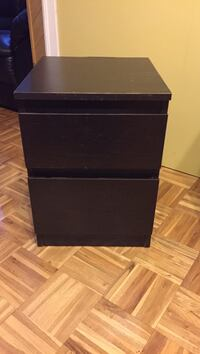 black wooden 2-drawer nightstand Montréal, H4N 2Y3