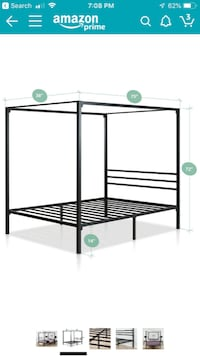 Twin Canopy Bed Frame Bristow