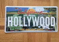 Hollywood license plate brand new in wrapping Vaughan, L4K