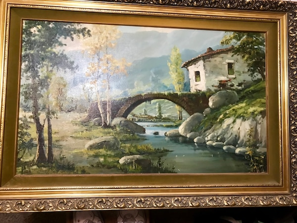 1960's oil painting