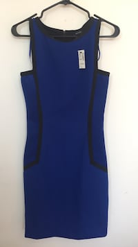 RW&CO Blue and Black Sleeveless Dress Gatineau, J9J