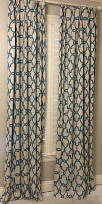 Custom pleated and lined drapes. Two sets. 96 inches tall 1022 mi