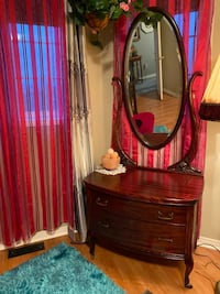 Antique vanity dresser with mirror for sale