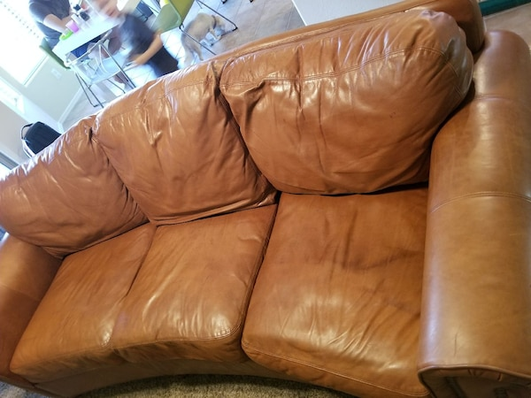 Pleasing Used Rustic Leather Sofa One Day Only Sale For Sale In Caraccident5 Cool Chair Designs And Ideas Caraccident5Info
