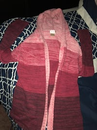 red and white knitted cardigan Ceres, 95307