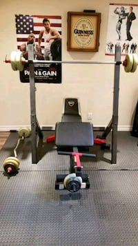 Black and grey bench press Laval