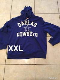 blue and white Adidas pullover hoodie Brownsville, 78521