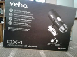 """veho"" digital microscope with alloy cradle"
