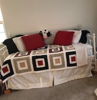 white and red bed sheet set 271 mi
